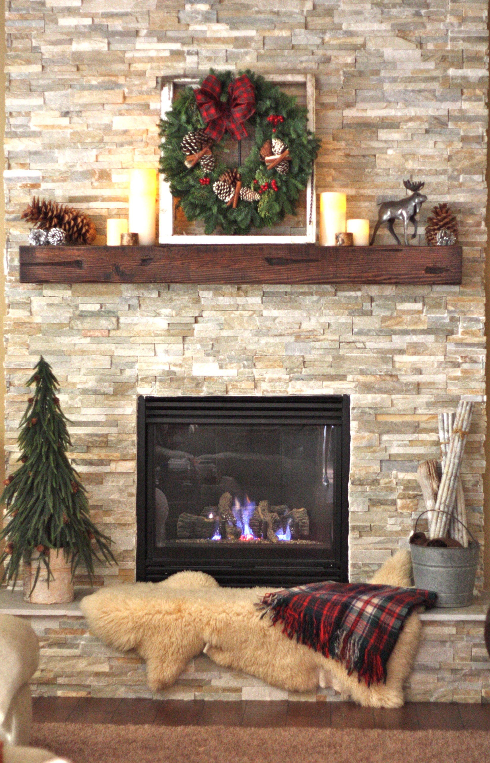 Rustic Fireplace Decor