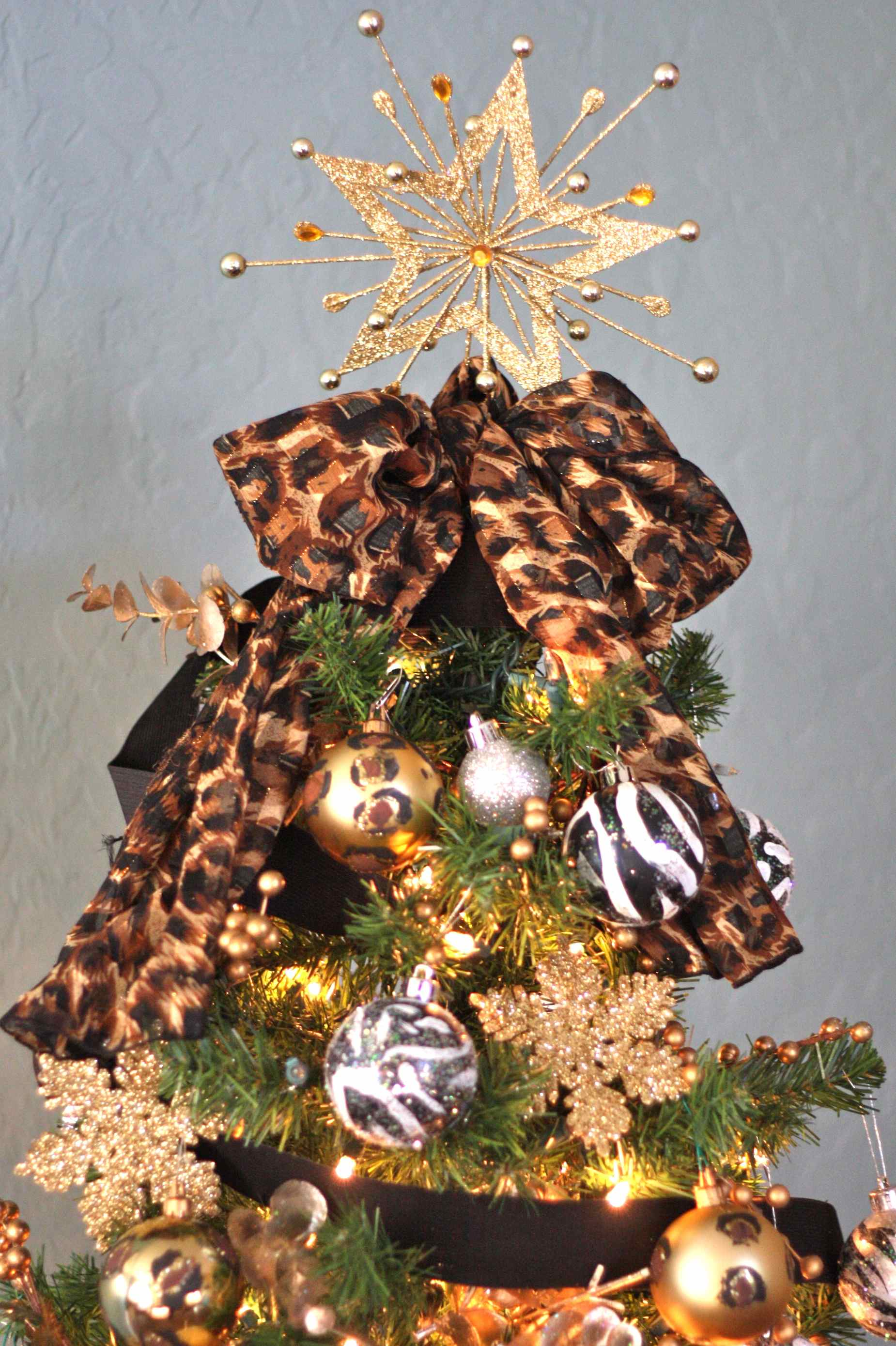 Ribbon Bow Christmas Tree Topper