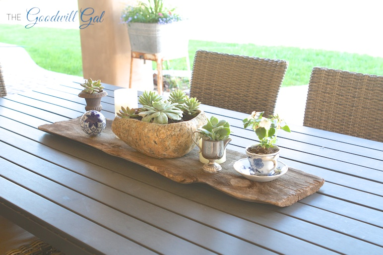 My patio table centerpiece for Patio table centerpiece ideas