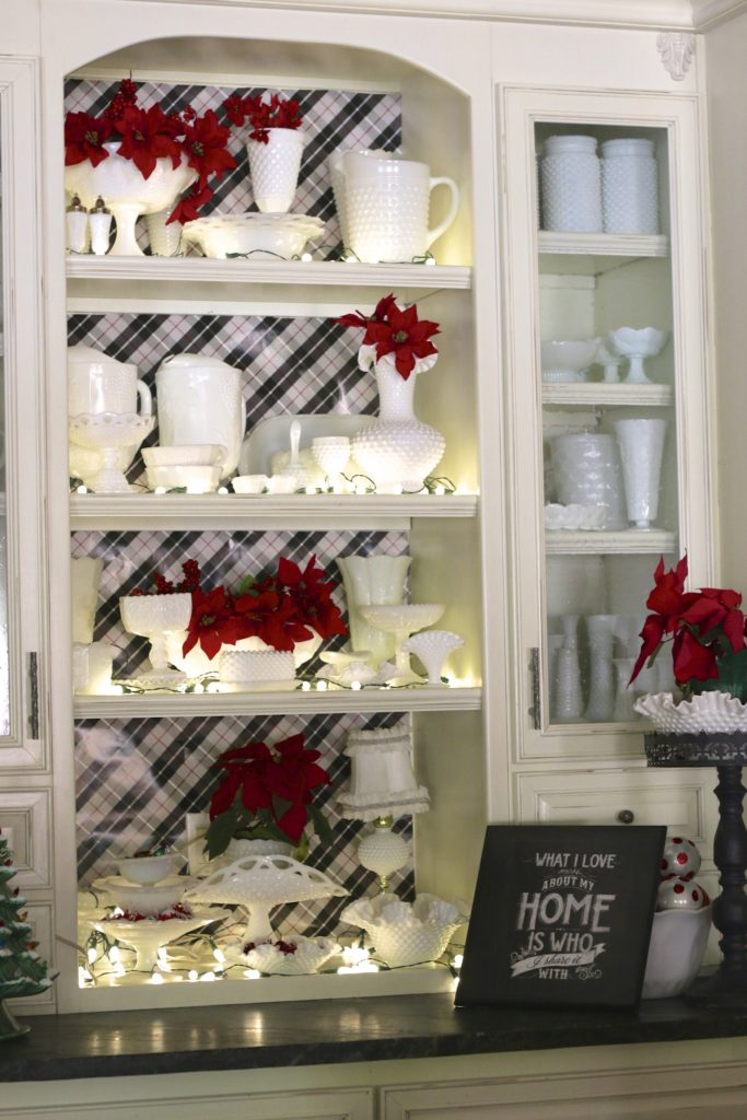 Milk Glass and my Christmas Kitchen