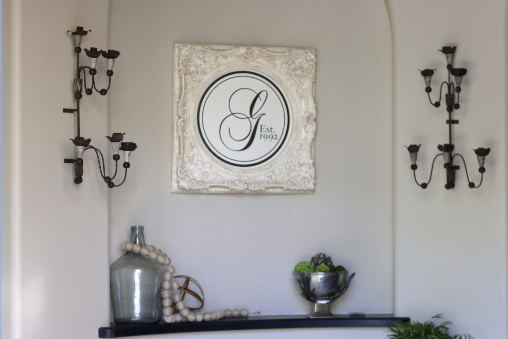 Metal Rustic Sconces in Entryway
